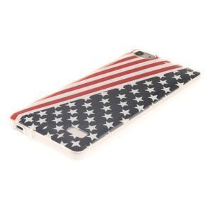 Gelový obal na mobil Honor 4C - americká vlajka - 2