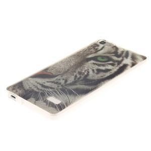 Gélový obal pre mobil Honor 4C - biely tiger - 2
