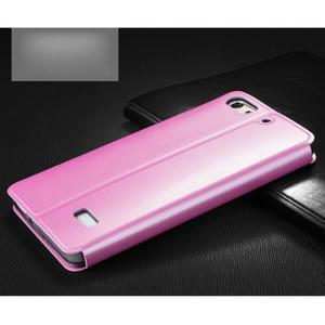 Vintage stylové pouzdro na mobil Honor 4C - růžové - 2