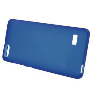 Matný gelový obal na Honor 4C - modrý - 2