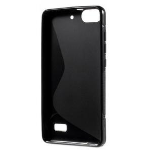 S-line gélový obal pre mobil Honor 4C - čierny - 2