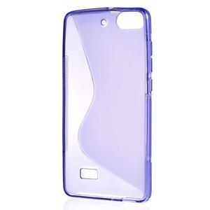 S-line gélový obal pre mobil Honor 4C - fialový - 2