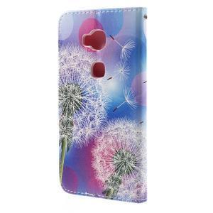PU kožené puzdro pre mobil Honor 5X - púpava - 2
