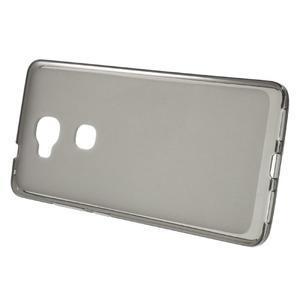 Matný gélový obal pre mobil Honor 5X - šedý - 2