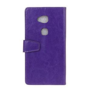 Horse Peňaženkové koženkové puzdro pre Huawei Honor 5X - fialové - 2