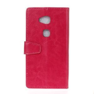 Horse peněženkové koženkové pouzdro na Huawei Honor 5X - rose - 2
