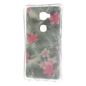 Drop gelový obal na Huawei Honor 5X - květiny - 2