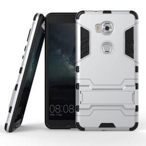 Outdoor odolný kryt pre mobil Honor 5X - strieborny - 2