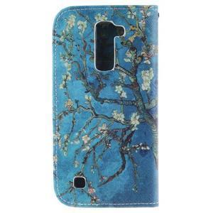 Peňaženkové puzdro pre mobil LG K10 - kvitnúce strom - 2