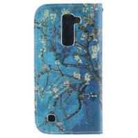 Peňaženkové puzdro pre mobil LG K10 - kvitnúce strom - 2/7
