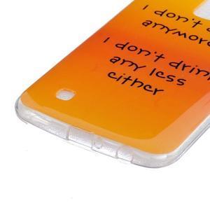 Fony gélový obal pre mobil LG K10 - drink - 2