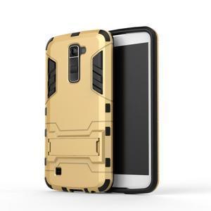 Odolný kryt pre mobil LG K10 - zlatý - 2