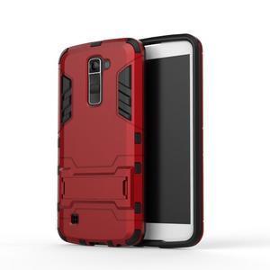 Odolný kryt pre mobil LG K10 - červený - 2