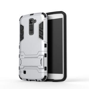 Odolný kryt pre mobil LG K10 - strieborny - 2