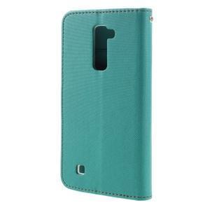 Style PU kožené puzdro pro LG K10 - zelenomodré - 2