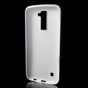 Matný gélový kryt pre LG K10 - transparentný - 2