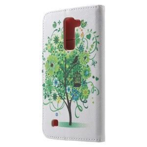 Wall peňaženkové puzdro pre LG K10 - strom - 2