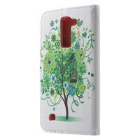 Wall peňaženkové puzdro pre LG K10 - strom - 2/7