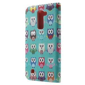 Wall peňaženkové puzdro pre LG K10 - malej sovy - 2