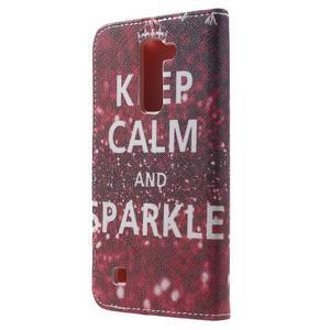 Wall peňaženkové puzdro pre LG K10 - Keep Calm - 2