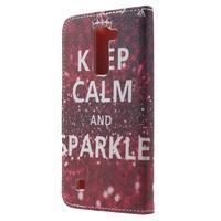 Wall peňaženkové puzdro pre LG K10 - Keep Calm - 2/7