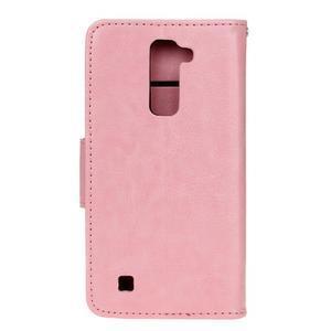 Horse PU kožené puzdro pre LG K10 - ružové - 2