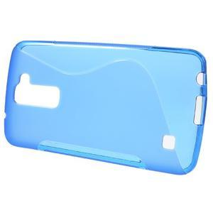 S-line gelový obal na mobil LG K10 - modrý - 2