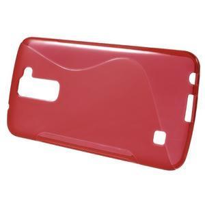 S-line gelový obal na mobil LG K10 - červený - 2