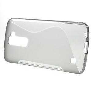 S-line gélový obal pre mobil LG K10 - sivý - 2