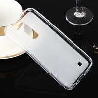Stter matný gélový obal pre mobil LG K10 - biely - 2/6