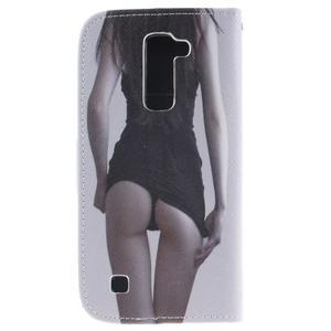 Peňaženkové puzdro pre mobil LG K10 - sexy dívka - 2