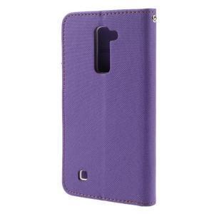 Style PU kožené puzdro pro LG K10 - fialové - 2