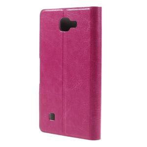 Horse PU kožené puzdro pre mobil LG K4 - rose - 2