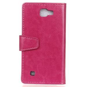 Leat peněženkové pouzdro na LG K4 - rose - 2