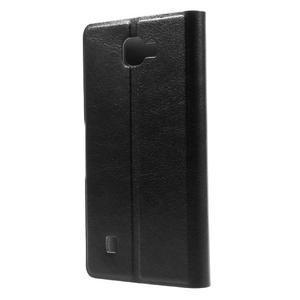 Horse PU kožené pouzdro na mobil LG K4 - černé - 2