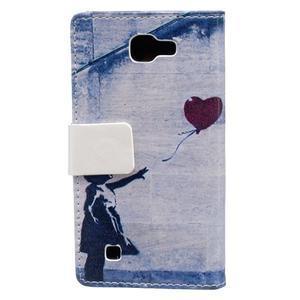 Style peňaženkové puzdro pre LG K4 - dievčatko - 2