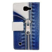 Style peňaženkové puzdro pre LG K4 - jeans - 2/5