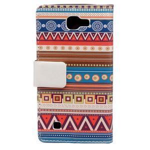 Style peňaženkové puzdro pre LG K4 - tribal - 2