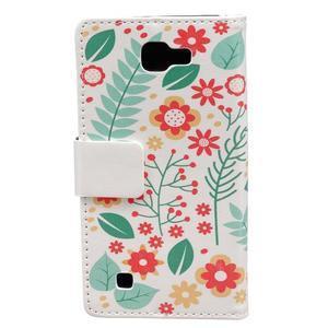 Style peňaženkové puzdro pre LG K4 - kvetinová koláž - 2