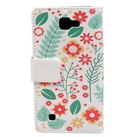 Style peněženkové pouzdro na LG K4 - květinová koláž - 2/5