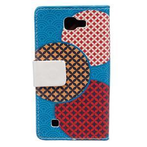 Style peňaženkové puzdro pre LG K4 - kruhy - 2