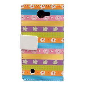 Style peňaženkové puzdro pre LG K4 - farebné kvetiny - 2