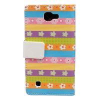 Style peňaženkové puzdro pre LG K4 - farebné kvetiny - 2/5