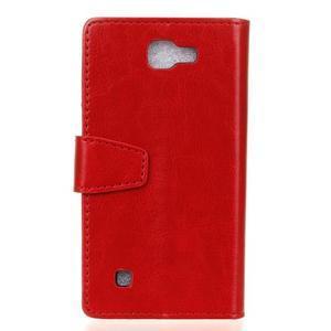 Leat peňaženkové puzdro pre LG K4 - červené - 2