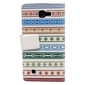 Style peňaženkové puzdro pre LG K4 - ethnic - 2