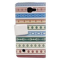 Style peňaženkové puzdro pre LG K4 - ethnic - 2/5