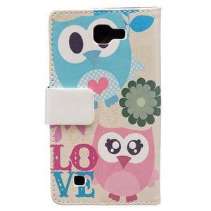 Style peňaženkové puzdro pre LG K4 - zamilované malej sovy - 2