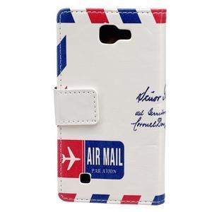 Style peňaženkové puzdro pre LG K4 - air mail - 2