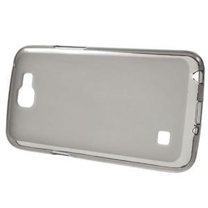 Matný gélový obal pre mobil LG K4 - sivé - 2