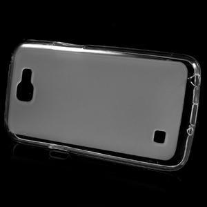 Matný gélový obal pre mobil LG K4 - biele - 2
